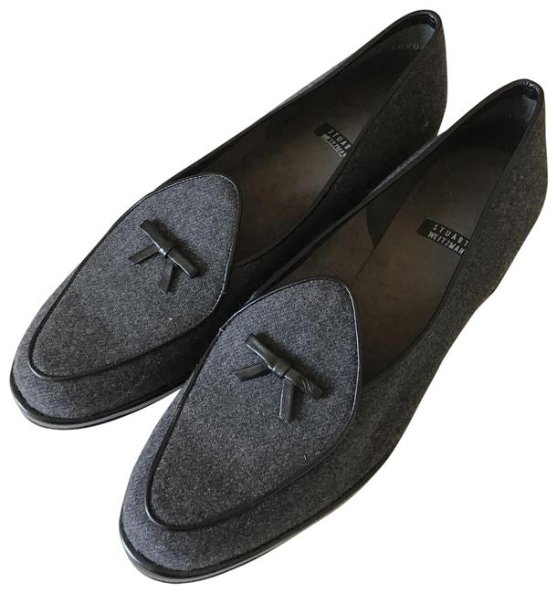 Item - Grey Canvas Leather Shoes/ Loafers. Flats Size US 8 Regular (M, B)