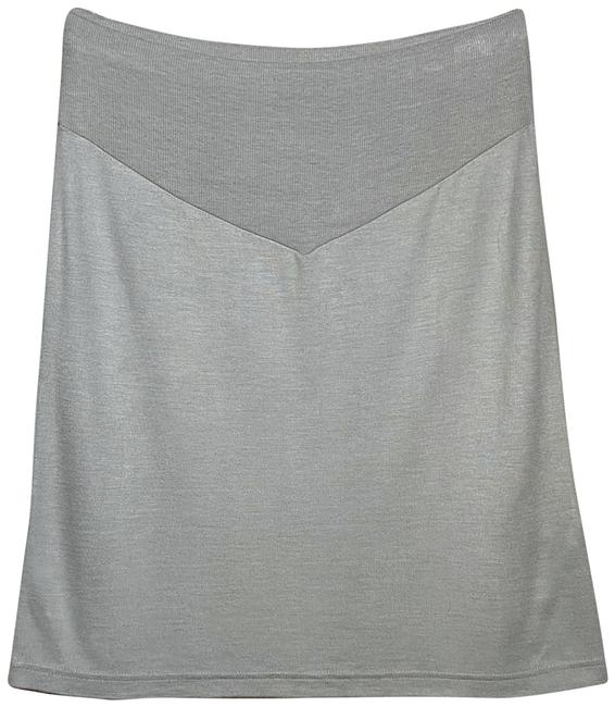 Item - Dove Grey Knit Pencil Skirt Size 12 (L, 32, 33)
