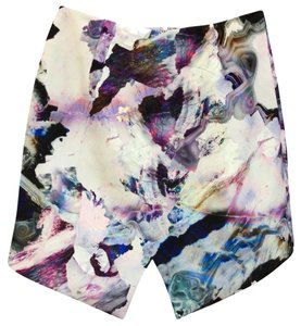 Stylestalker Abstract Print Skirt Purple