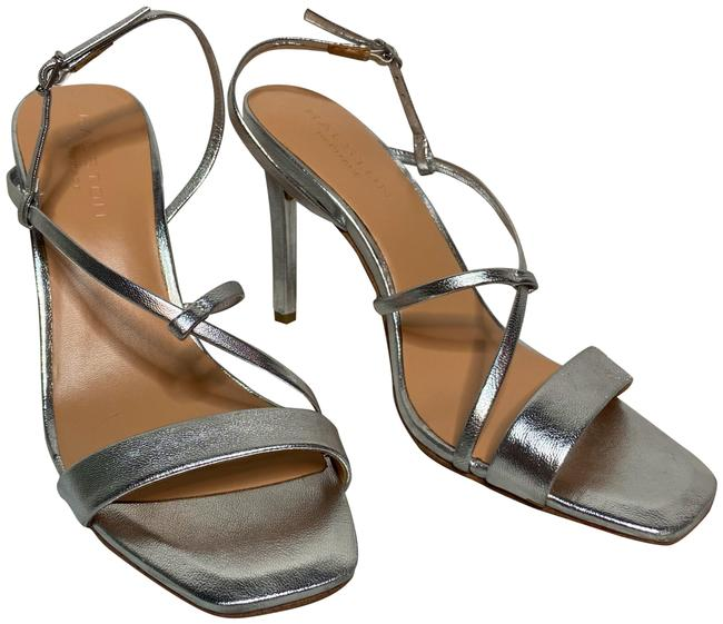 Item - Silver Isla Strappy Leather Sandals Size US 7.5 Regular (M, B)