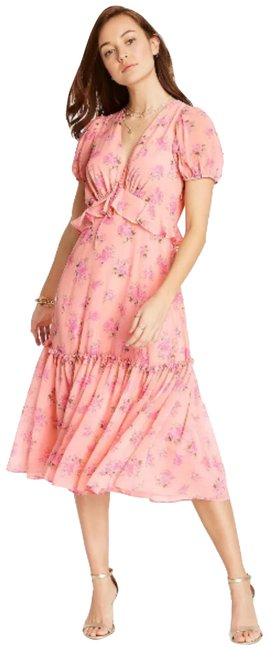 Item - Pink Fleur Melon Mid-length Casual Maxi Dress Size 10 (M)