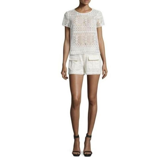 Item - Cream 'margardia' Lace Antiquie White Shorts Size 6 (S, 28)