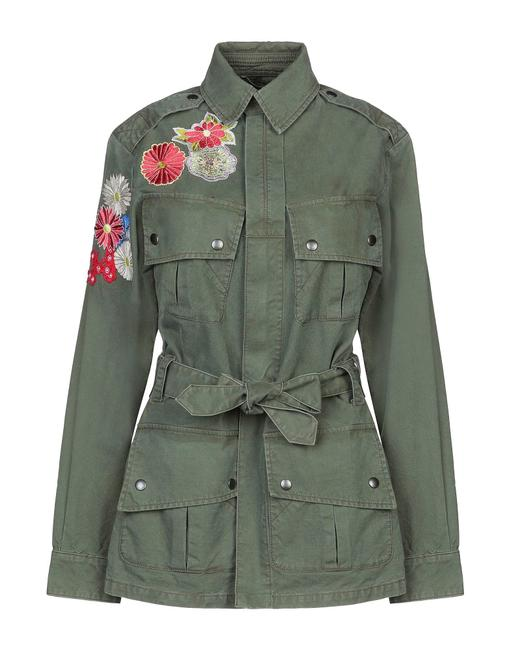 Item - Military Green Single Breasted Jacket Size 8 (M)