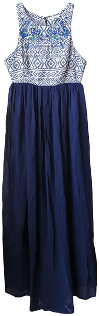 Item - Blue Montera Beaded Maxi Long Formal Dress Size 8 (M)
