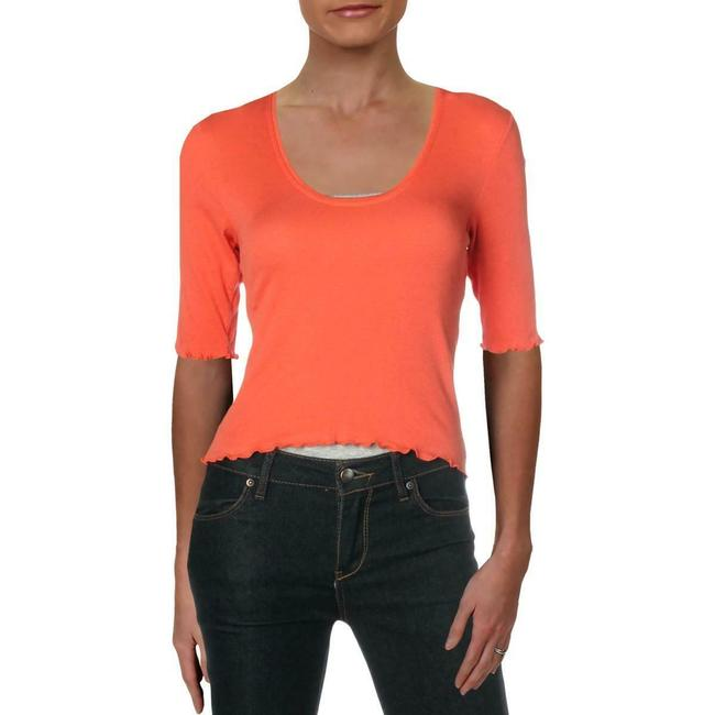 Item - Coral Womens Neck 3/4 Sleeve Crop M Halter Top Size 8 (M)