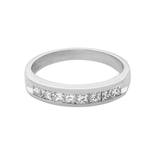 Rachel Koen Platinum Princess Cut Diamond Wedding Band 0.40cts Size 5.5 Ring Rachel Koen Platinum Princess Cut Diamond Wedding Band 0.40cts Size 5.5 Ring Image 1