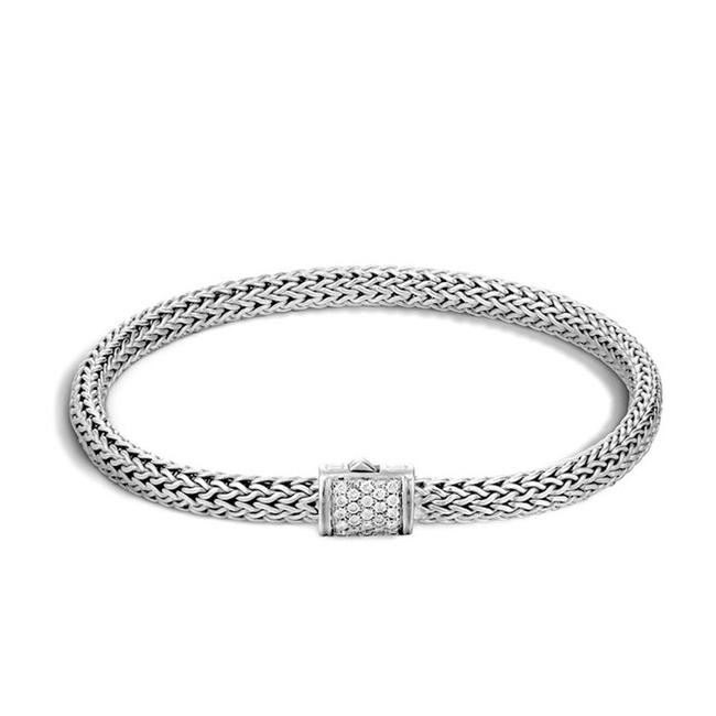 John Hardy Sterling Silver Classic Chain Diamond Clasp 1690 Bracelet John Hardy Sterling Silver Classic Chain Diamond Clasp 1690 Bracelet Image 1
