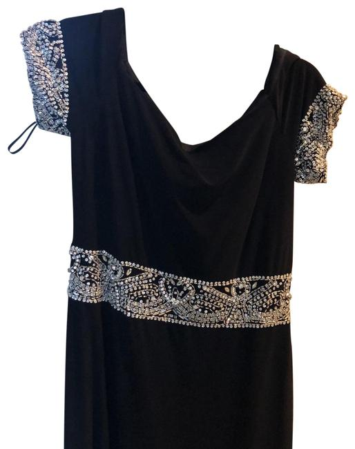 Item - Black with Silver Beading Unknown Long Formal Dress Size 8 (M)