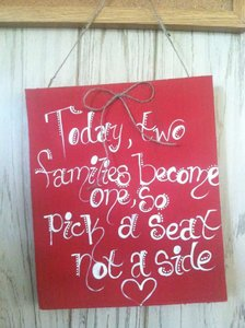 Love Always Today Two Families Become One Sign Ceremony Decoration