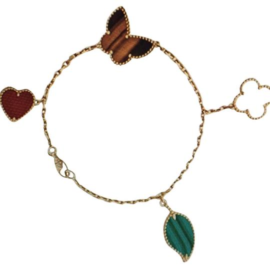 Preload https://img-static.tradesy.com/item/27649966/carncarnelian-mother-of-pearl-malachite-and-tiger-s-eye-18k-gold-butterfly-love-four-leaf-clover-and-0-2-540-540.jpg
