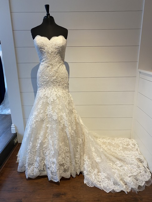 Item - Off White/Beige Lace and Tulle Druida Formal Wedding Dress Size 14 (L)