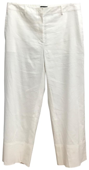 Theory White Fluid St. Caliver Linen Pants Size 10 (M, 31) Theory White Fluid St. Caliver Linen Pants Size 10 (M, 31) Image 1
