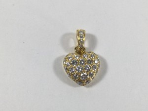Cartier Cartier Pave Diamonds 18K Yellow Gold Heart Pendant Top