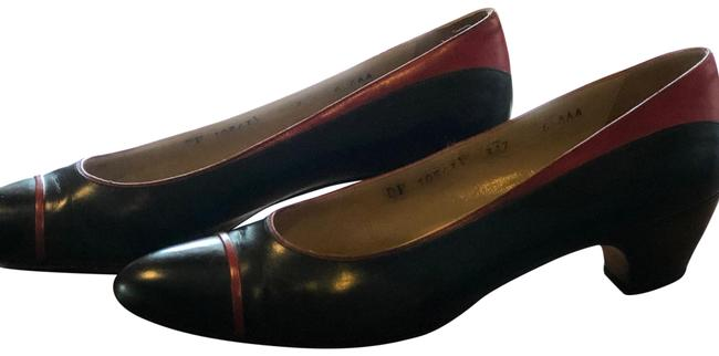 Item - Navy and Red Classic Vintage Pumps Size US 6 Narrow (Aa, N)