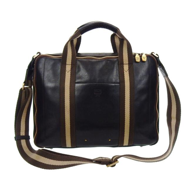 Item - Briefcase Business Brown Leather Laptop Bag