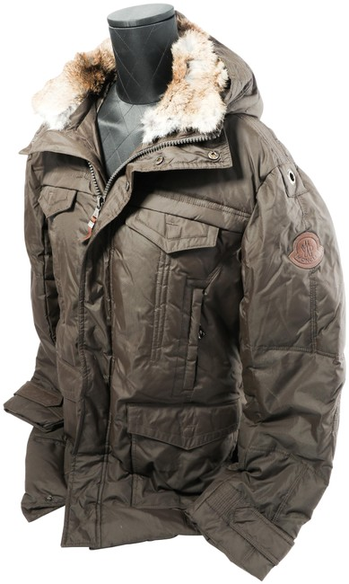 Item - Brown W Men's Down Jacket W/ Hoodie and Removable Fur Collar Coat Size OS (one size)