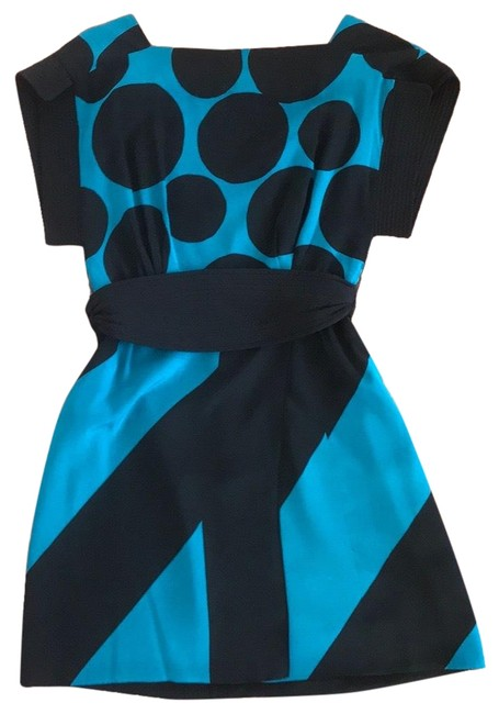 Item - Black and Blue Runway Short Cocktail Dress Size 2 (XS)
