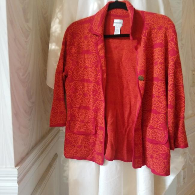 Item - Red Embroidered Vintage Jacket Size 0 (XS)