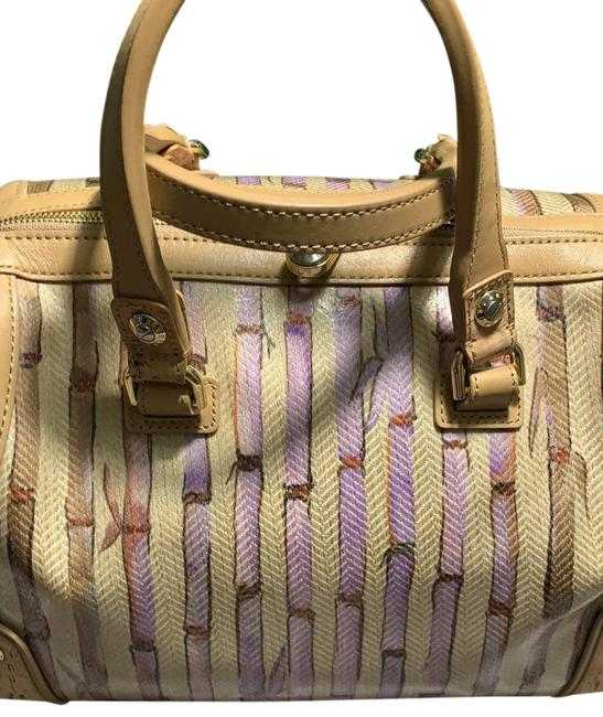 Item - Brown Coated Canvas Satchel