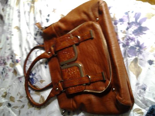 Leather usa Satchel in brown