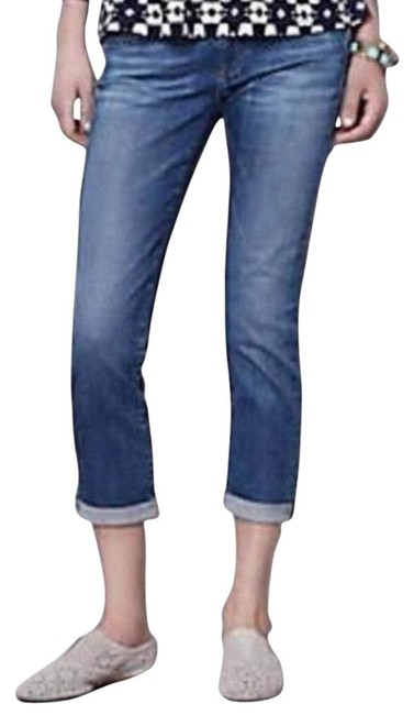 Item - Blue Light Wash The Stevie Roll-up Capri/Cropped Jeans Size 2 (XS, 26)