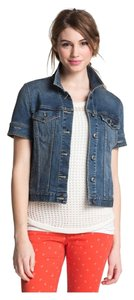 """Vince Camuto """"Authentic"""" Distressed Denim Womens Jean Jacket"""