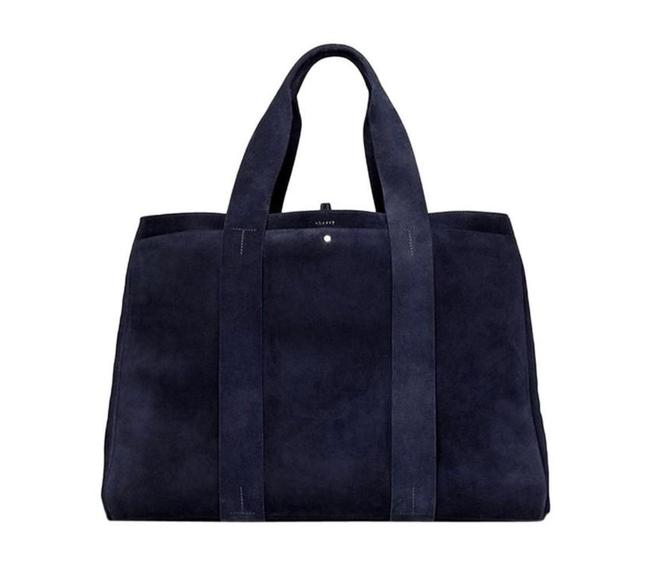Item - Large Signature In Cedar Blue Suede Leather Tote