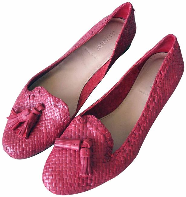 J.Crew Red Woven Loafers Flats Size US 7.5 Regular (M, B) J.Crew Red Woven Loafers Flats Size US 7.5 Regular (M, B) Image 1