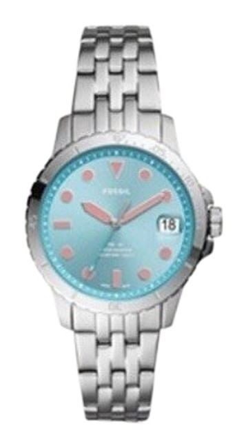 Item - Blue Fb-01 Three-hand Date Stainless Steel Watch