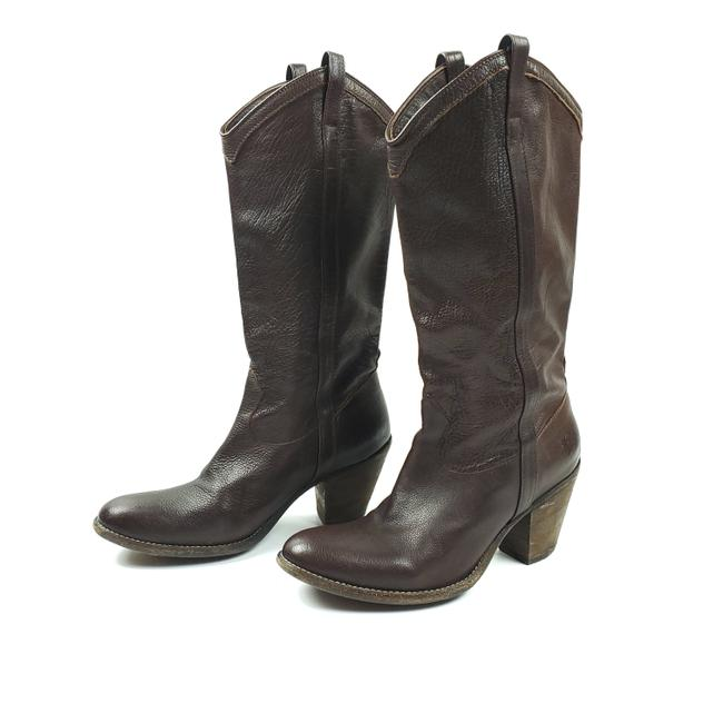Item - Brown Leather Heeled Western Boots/Booties Size US 8.5 Regular (M, B)