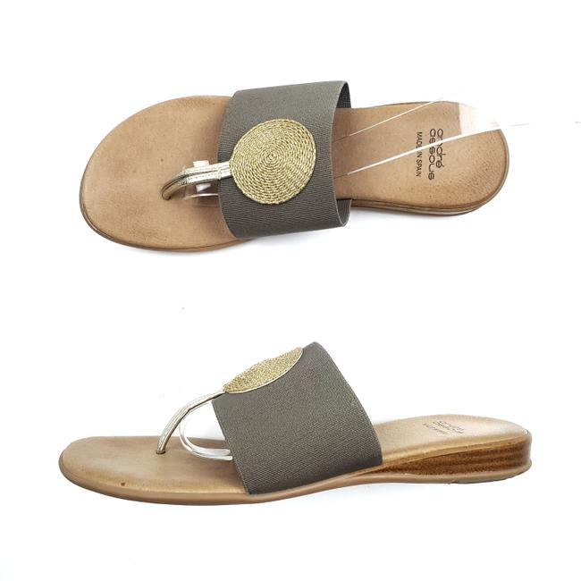Item - Brown Gold Stretch Sandals Size EU 37 (Approx. US 7) Regular (M, B)
