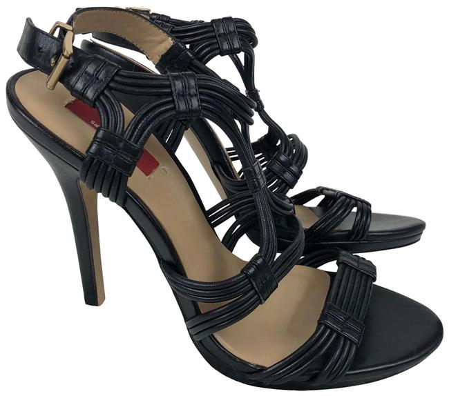 black and red strappy heels