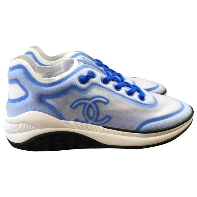 Item - Blue X White 19p Mesh Cc Logo G34763 6c0 Sneakers Size EU 41 (Approx. US 11) Regular (M, B)
