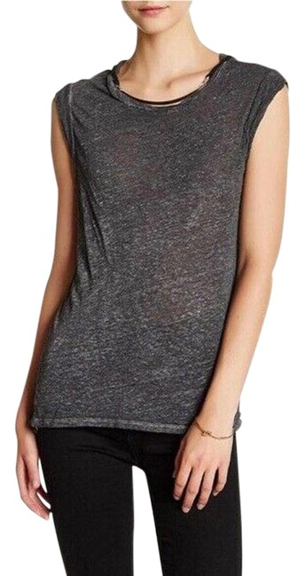 Item - Heather Grey Frankie Hardware Muscle Tee Shirt Size 12 (L)