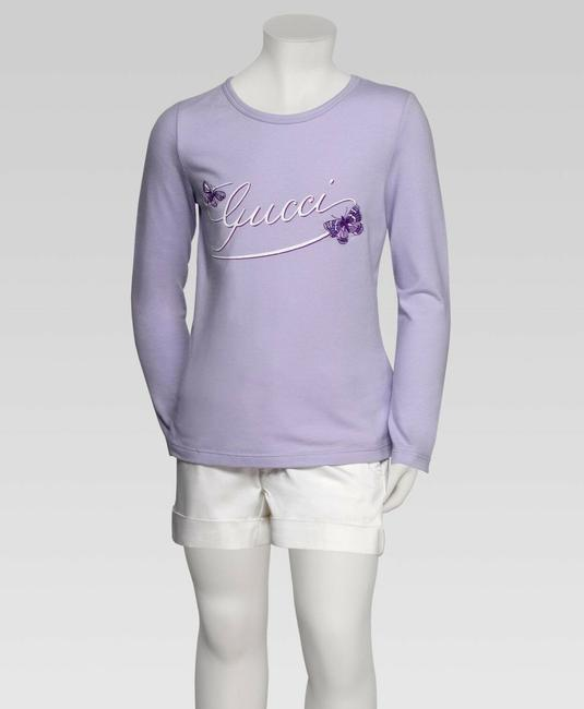 Item - Lilac W Kids Long Sleeve Top T-shirt W/Butterfly Embroidery 3 258571 Groomsman Gift