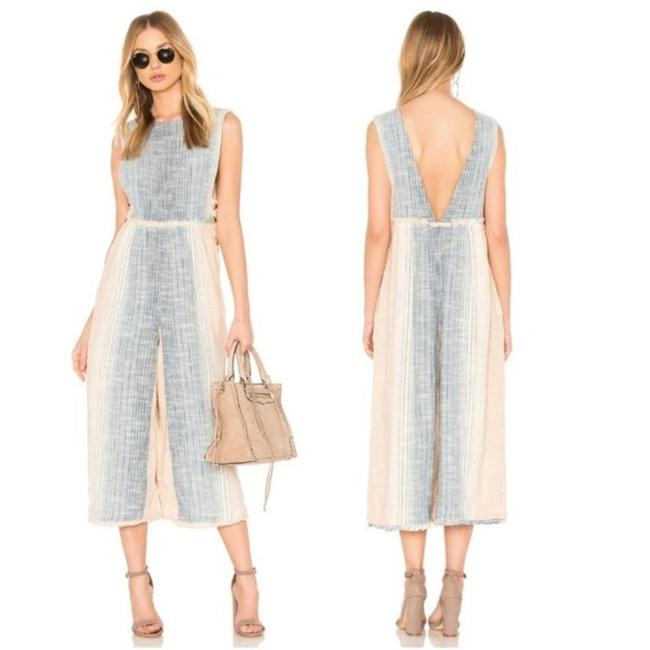 Item - Cream Blue Moab Romper/Jumpsuit
