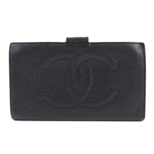 Chanel Chanel Coco Mark Clasp Long wallet (bi-fold) Black A13498