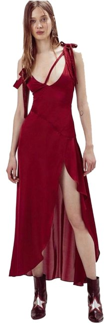 Item - Red Bright Lights In Long Casual Maxi Dress Size 2 (XS)