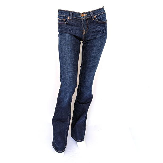 Item - Dark Vintage Rinse Low Tall In Indigo Boot Cut Jeans Size 27-4-s
