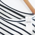 Gap Blue White Luxe Striped Tee Shirt Size 6 (S) Gap Blue White Luxe Striped Tee Shirt Size 6 (S) Image 5