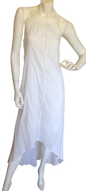 Item - White High Low Halter Long Casual Maxi Dress Size 12 (L)