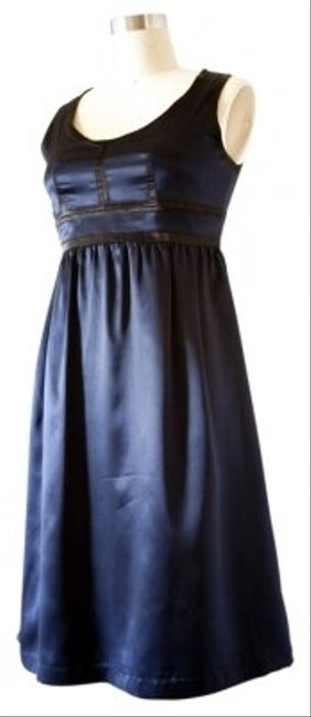 Proenza Schouler for Target Silk Polyester Navy/black Baby Doll Dress