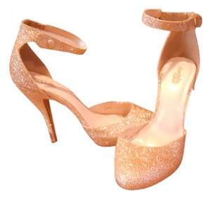 Charlotte Russe glittery gold Formal