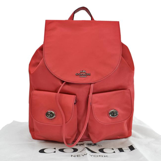 Item - Rucksack Ladies Red Color Nylon Backpack