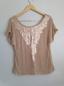 Beyond Vintage Top Blush nude
