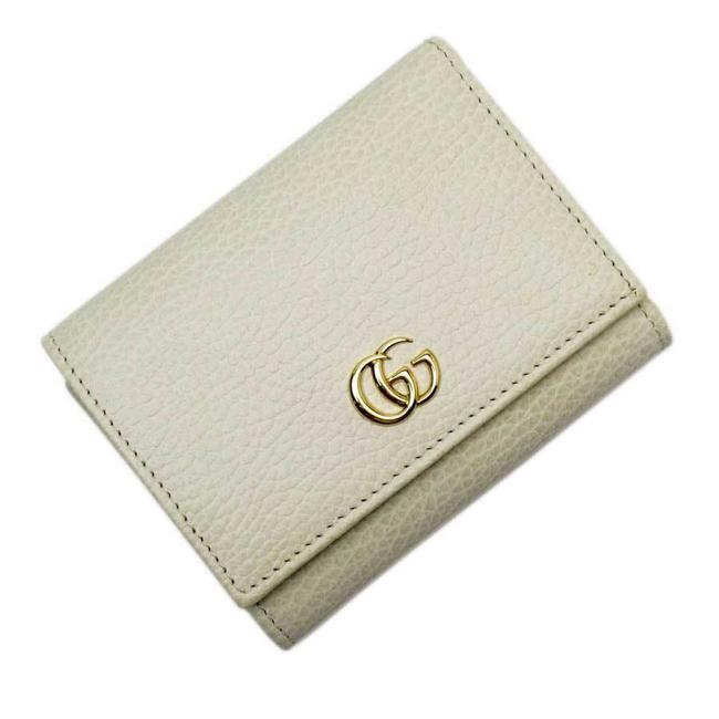 Item - Ivory W Hook Bi-fold Double G Gold Leather Women Wallet