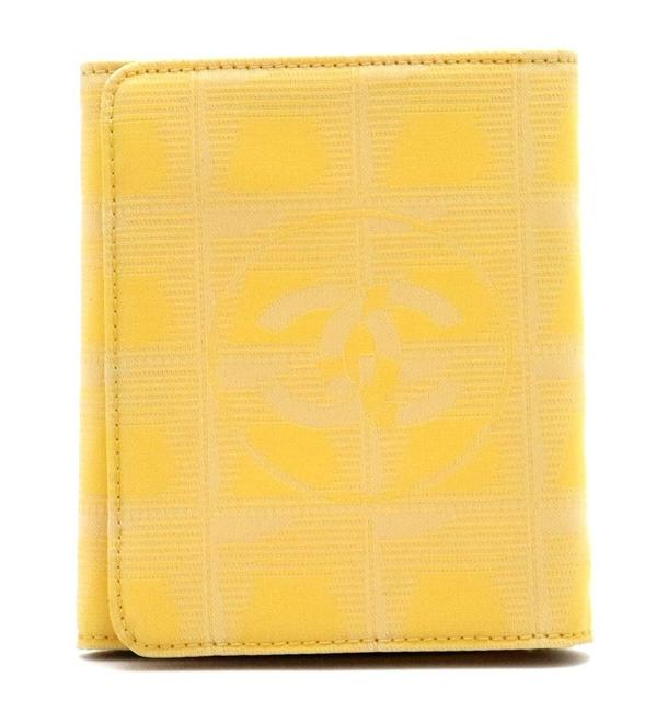 Item - Yellow New Travel Line Cocomark 3-fold Nylon Jacquard Leather A15787 Wallet