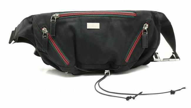 Item - Sherry Line Waist Pouch 122350 Black Nylon Cross Body Bag