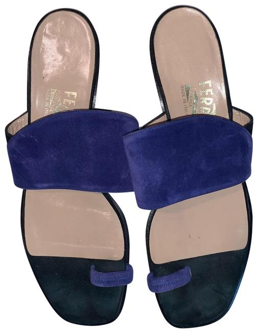 Item - Blue and Black Dy 9044 37 Sandals Size US 8.5 Narrow (Aa, N)