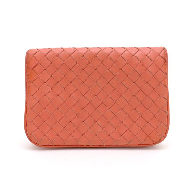 Item - Orange Intrecciato 2-fold with Card Case Leather 256391 Wallet